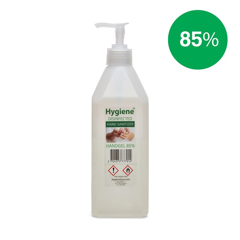 Hånddesinfektion Gel 85% - 600 ml.
